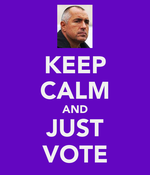 KEEP CALM AND JUST VOTE