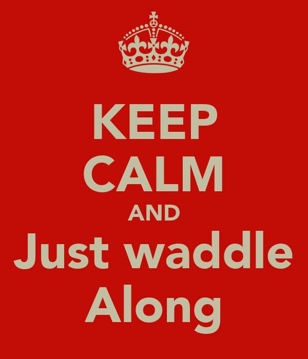 KEEP CALM AND Just waddle Along