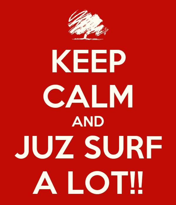 KEEP CALM AND JUZ SURF A LOT!!