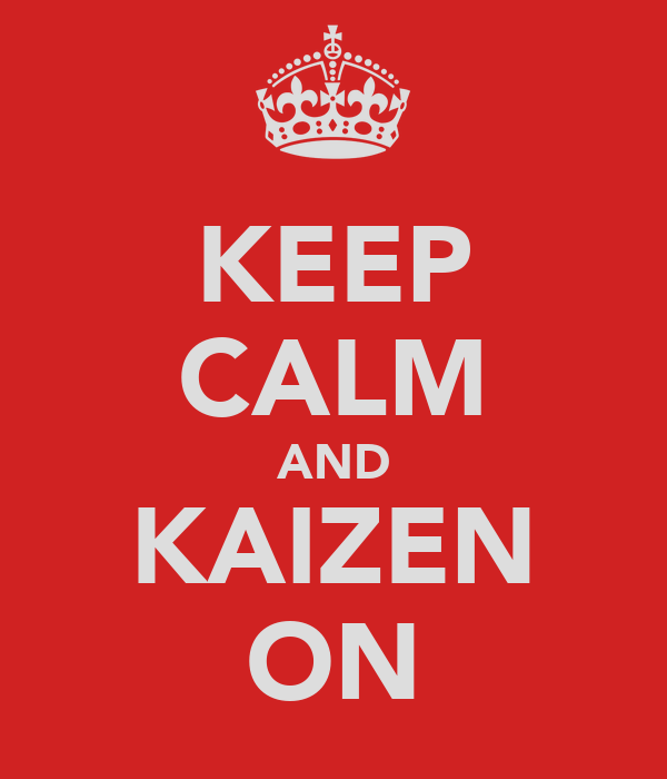 KEEP CALM AND KAIZEN ON
