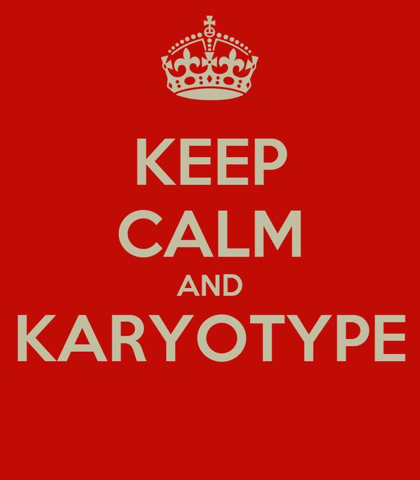 KEEP CALM AND KARYOTYPE