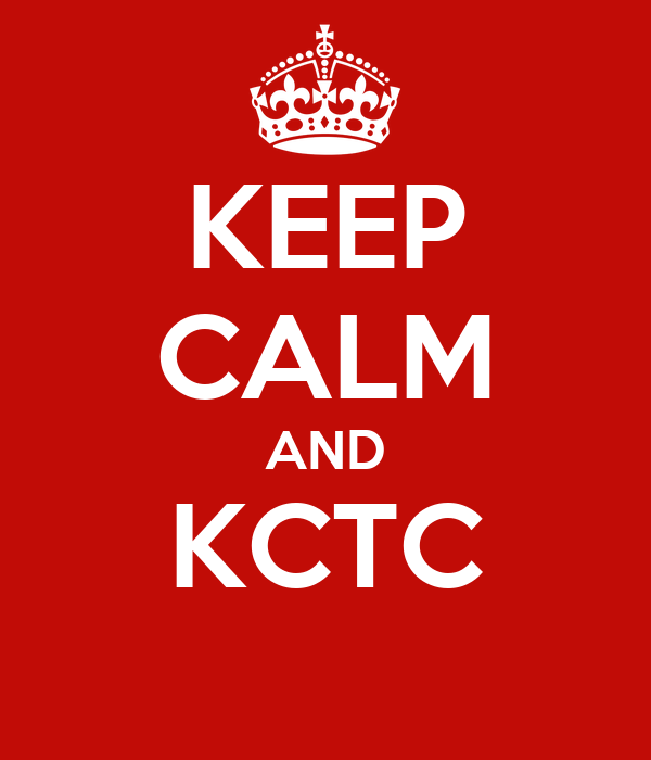 KEEP CALM AND KCTC
