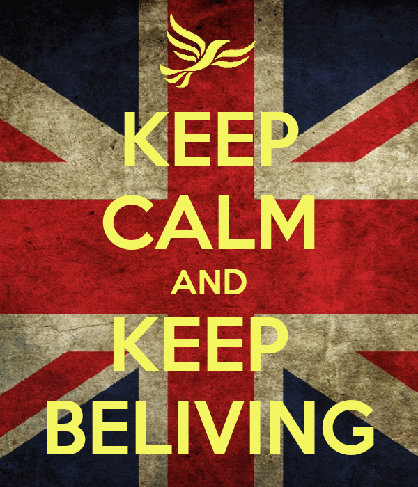 KEEP CALM AND KEEP  BELIVING