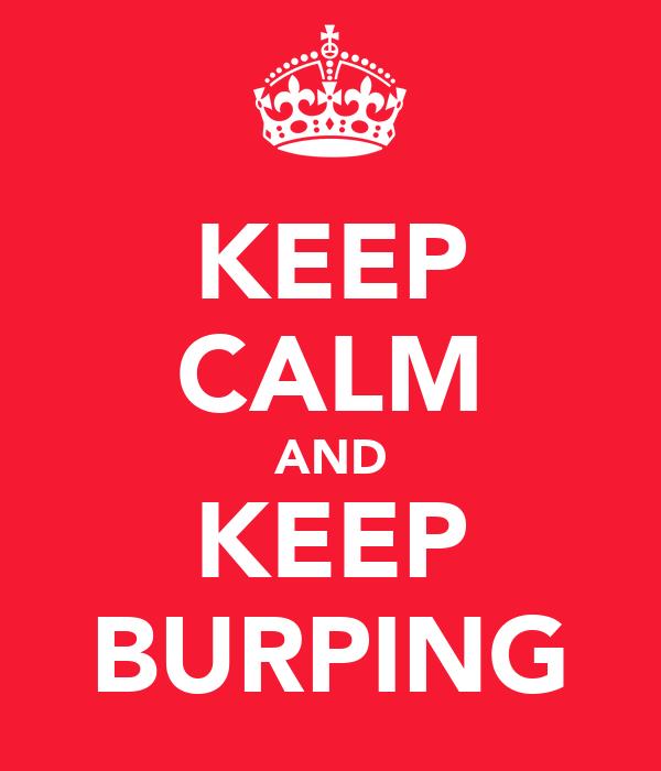 KEEP CALM AND KEEP BURPING