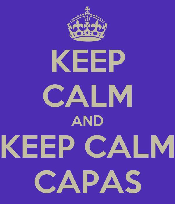 KEEP CALM AND KEEP CALM CAPAS