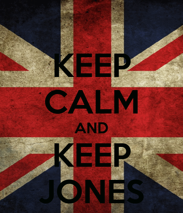 KEEP CALM AND KEEP JONES