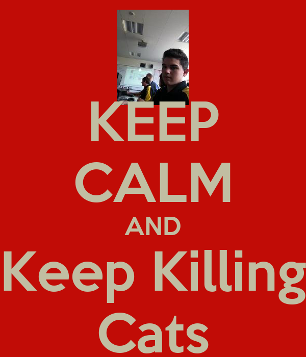 KEEP CALM AND Keep Killing Cats