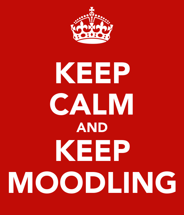 KEEP CALM AND KEEP MOODLING