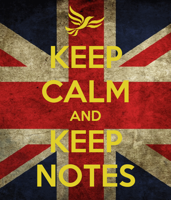 KEEP CALM AND KEEP NOTES