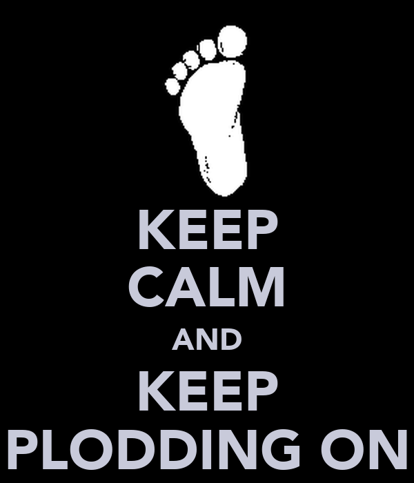 KEEP CALM AND KEEP PLODDING ON
