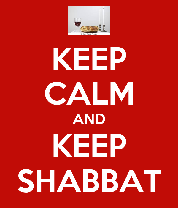 KEEP CALM AND KEEP SHABBAT