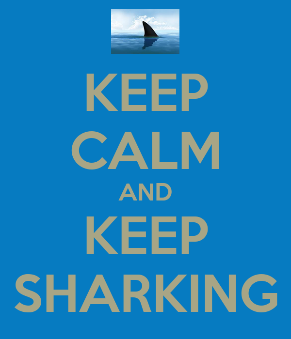 KEEP CALM AND KEEP SHARKING