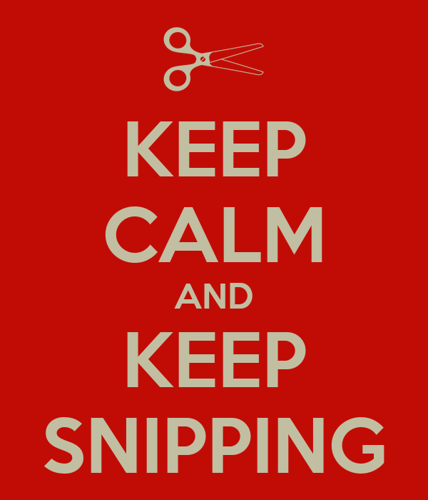 KEEP CALM AND KEEP SNIPPING