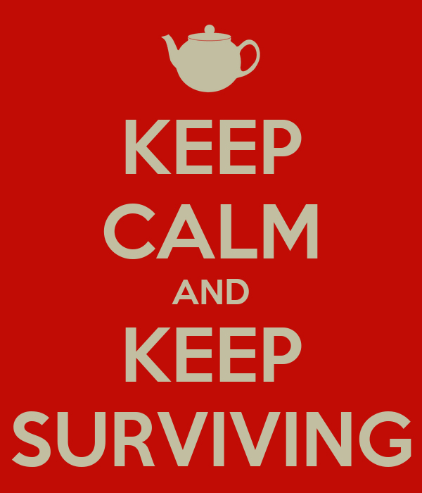 KEEP CALM AND KEEP SURVIVING