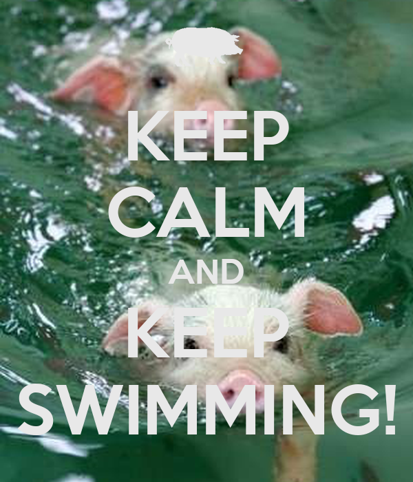 KEEP CALM AND KEEP SWIMMING!
