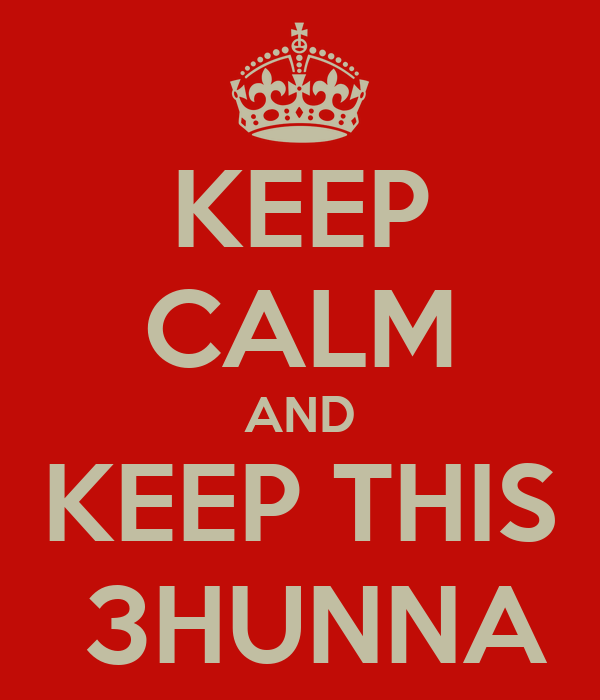 KEEP CALM AND KEEP THIS  3HUNNA