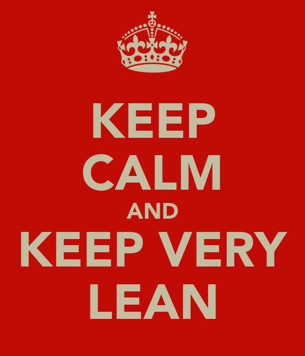 KEEP CALM AND KEEP VERY LEAN