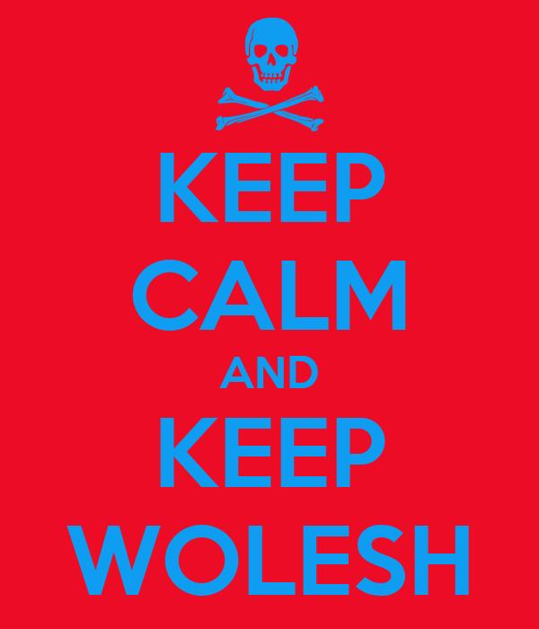 KEEP CALM AND KEEP WOLESH