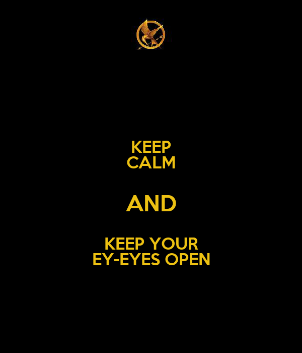KEEP CALM AND KEEP YOUR EY-EYES OPEN