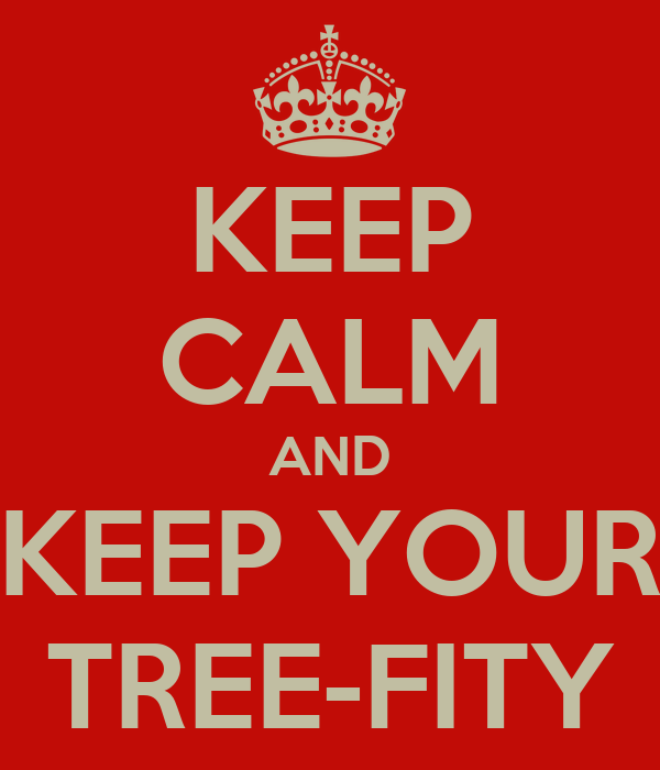 KEEP CALM AND KEEP YOUR TREE-FITY