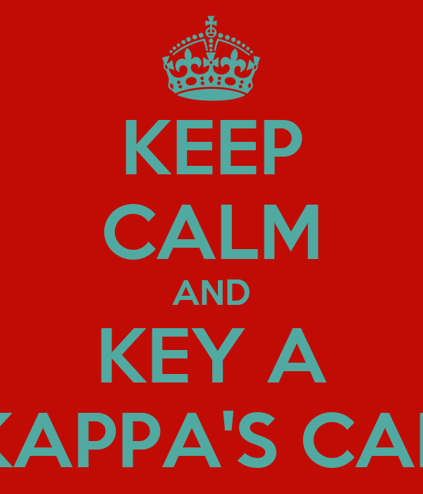 KEEP CALM AND KEY A KAPPA'S CAR