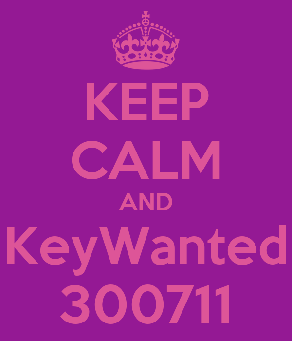 KEEP CALM AND KeyWanted 300711