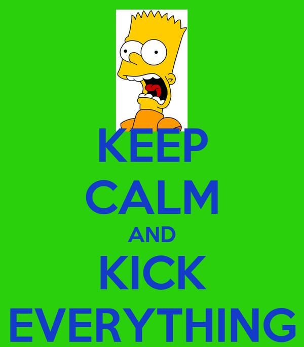 KEEP CALM AND KICK EVERYTHING