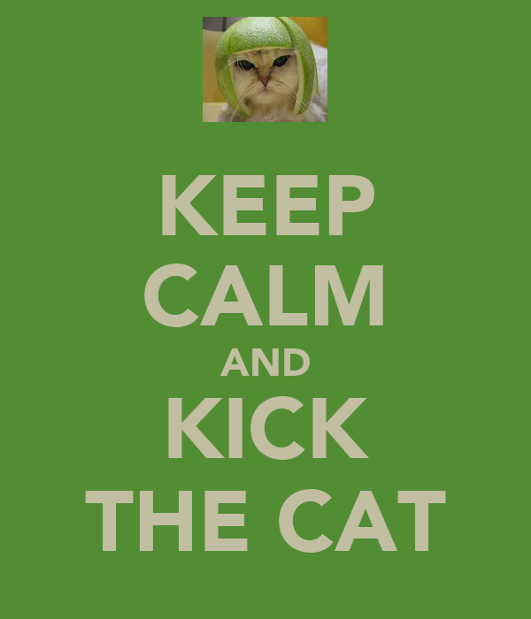 KEEP CALM AND KICK THE CAT