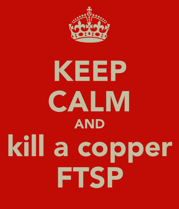 KEEP CALM AND kill a copper FTSP