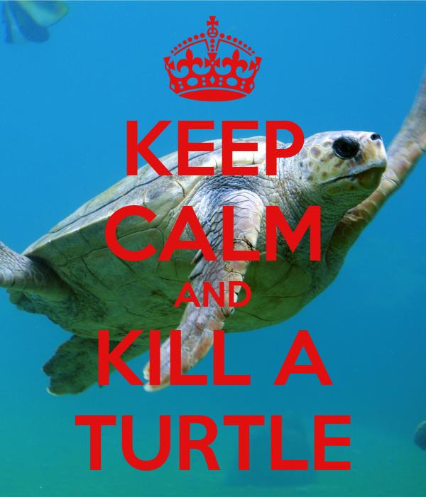 KEEP CALM AND KILL A TURTLE