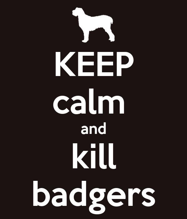 KEEP calm  and kill badgers