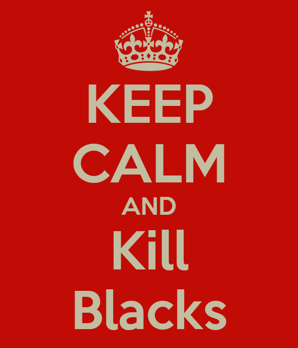 KEEP CALM AND Kill Blacks