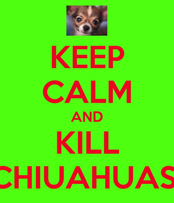 KEEP CALM AND KILL CHIUAHUAS!