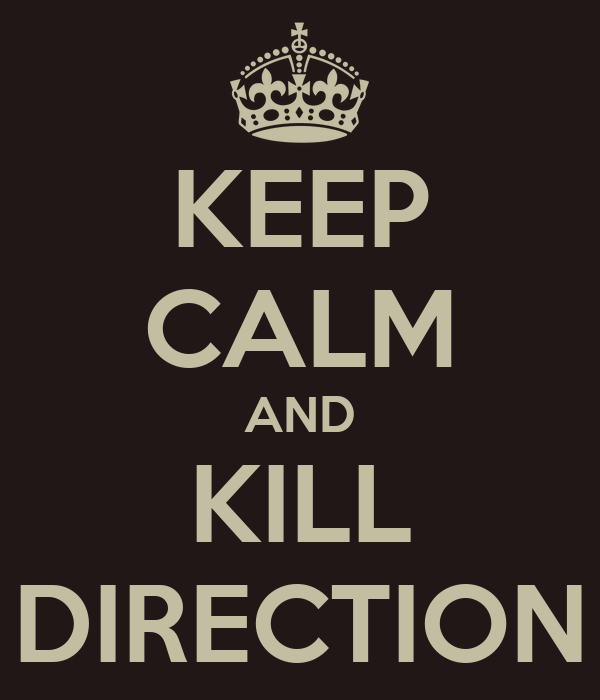 KEEP CALM AND KILL DIRECTION