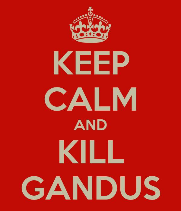 KEEP CALM AND KILL GANDUS