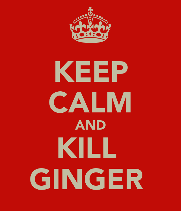 KEEP CALM AND KILL  GINGER