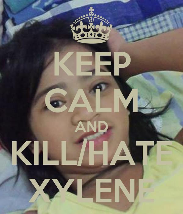 KEEP CALM AND KILL/HATE XYLENE
