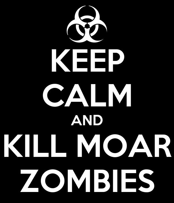 KEEP CALM AND KILL MOAR ZOMBIES