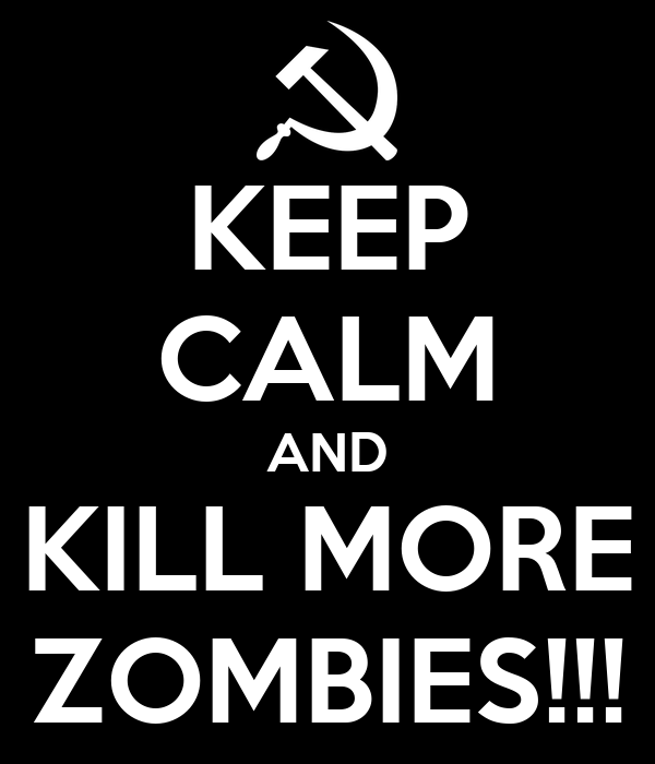 KEEP CALM AND KILL MORE ZOMBIES!!!