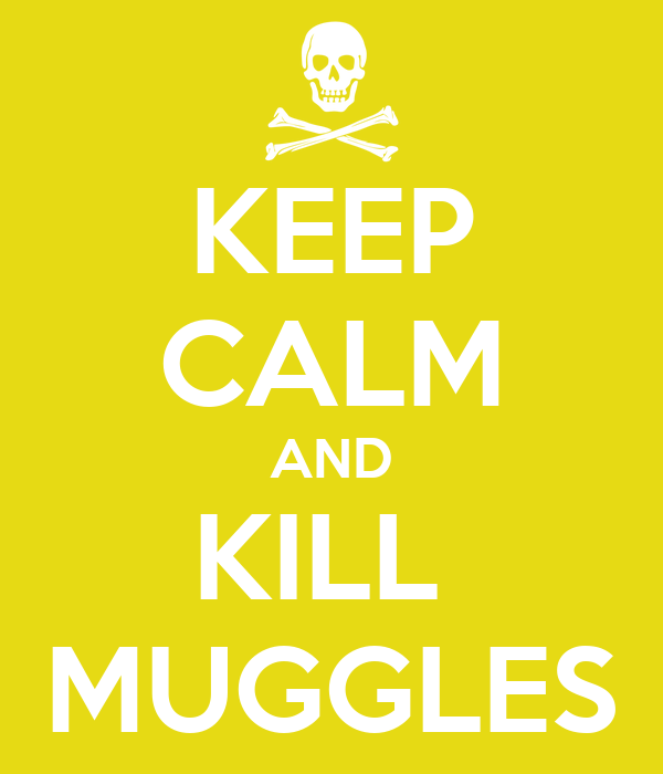 KEEP CALM AND KILL  MUGGLES