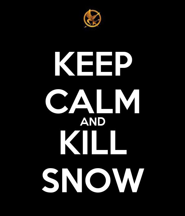 KEEP CALM AND KILL SNOW