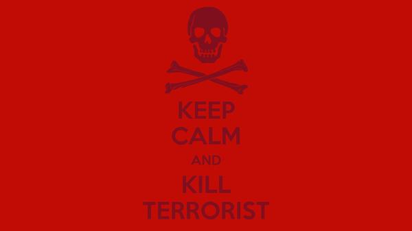 KEEP CALM AND KILL TERRORIST