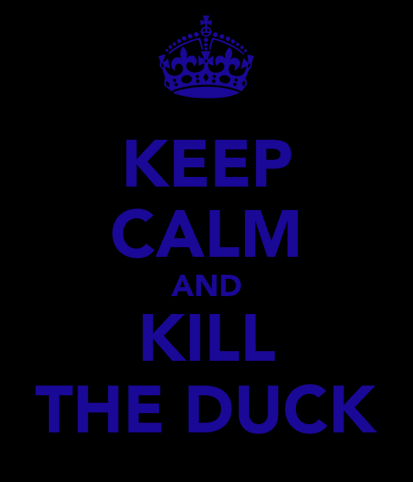 KEEP CALM AND KILL THE DUCK