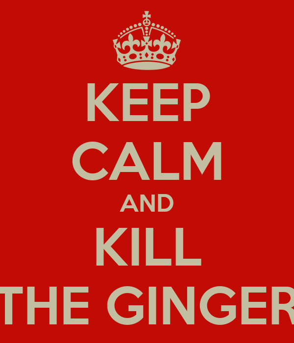 KEEP CALM AND KILL THE GINGER
