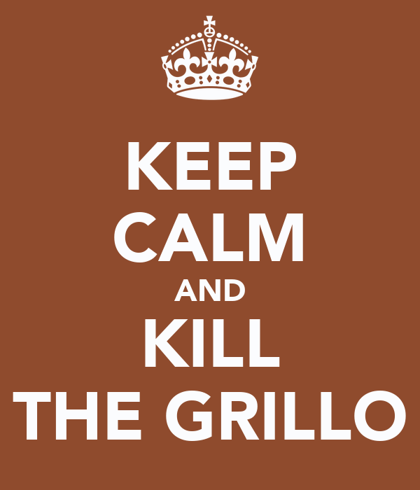 KEEP CALM AND KILL THE GRILLO