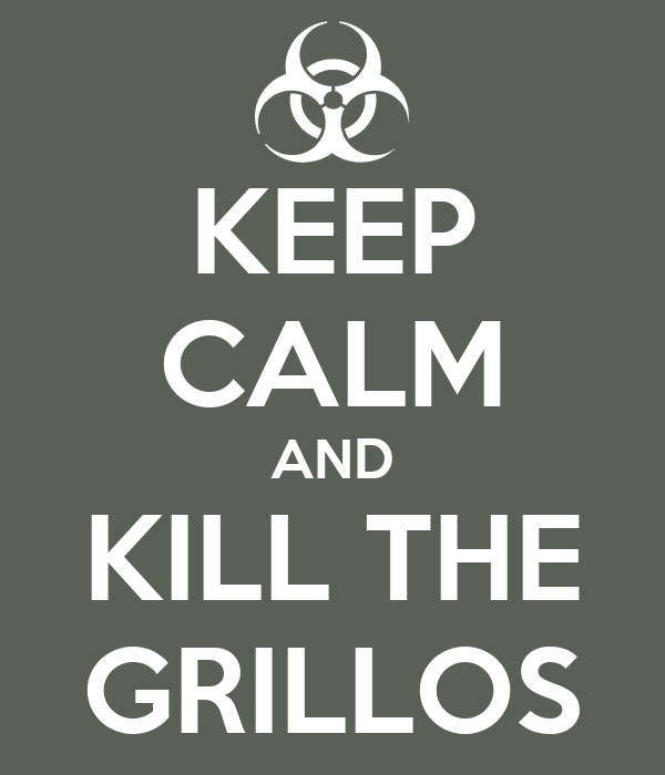 KEEP CALM AND KILL THE GRILLOS