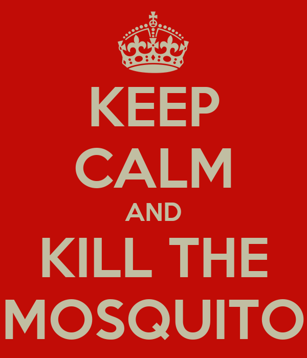 KEEP CALM AND KILL THE MOSQUITO
