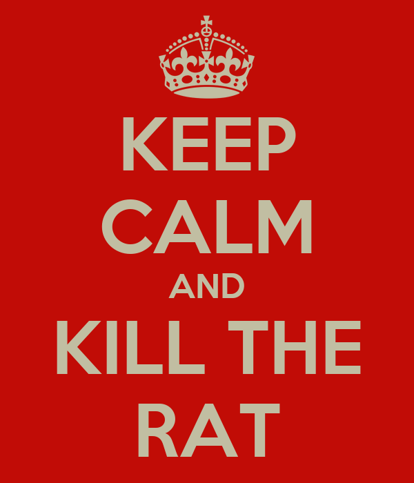 KEEP CALM AND KILL THE RAT