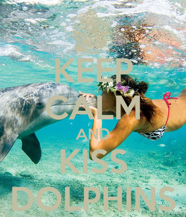 KEEP CALM AND KISS DOLPHINS