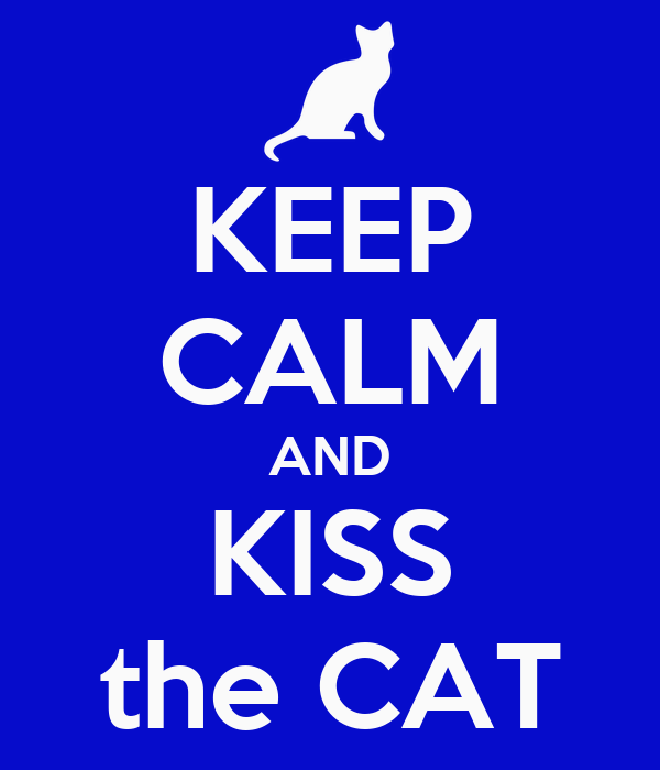 KEEP CALM AND KISS the CAT